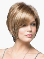 FIXSF1053  blonde mixed short health bob style hair wig straight women lady wigs