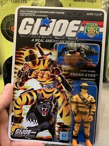 Gi Joe Cobra 1988 Tiger Force Snake Eyes C9.5+ Unpunched Card Lot V2 Beautiful A