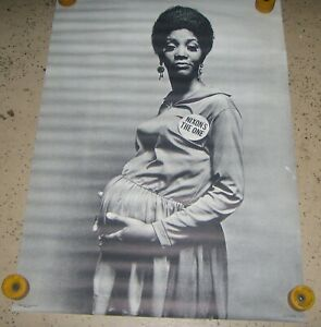 VINTAGE 1968 NIXON`S THE ONE SHELLY ROSEMAN BLACK LADY ANTI-NIXON POSTER