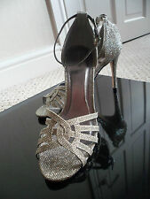 MONSOON ~ DECEDANCE -Stunning Gold Glitter Party Shoe Size 6 New