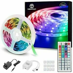 WENTOP LED Strip Light 32.8ft Flexible Color Changing Lights with Remote Control