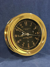 Fully Restored* 1940 Us Coast Guard 12/24hr. Chelsea Ships Clock Serial 305941