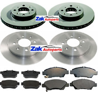 HONDA JAZZ  1.2 1.3 1.4 (2008-2014) FRONT AND REAR BRAKE DISCS AND PADS SET NEW