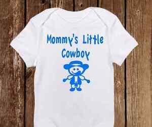 Cute Mommy's Cowboy Onesies - Funny Baby Boy clothes Newborn Bodysuit