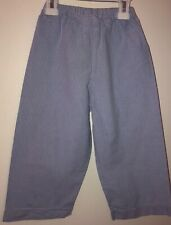 Boys Boutique Zuccini Light Blue checkered Gingham easy on elastic pants Size 3T