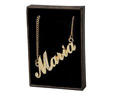 """Collar de nombre """"María"""" - Chapado en Oro 18 CT-Regalo De Cumpleaños-apreciación"""