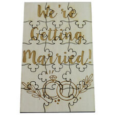 We're Getting Married - 15 Piece Wood Jigsaw Puzzle Engagement Announcement