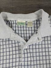 New listing Vintage LL Bean Mens Rugby Shirt Size Medium Made in the USA White Blue Striped