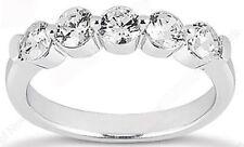 5 DIAMOND WEDDING RING Anniversary Band 1.01 carat F color VS clarity 0.20 carat
