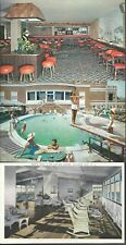 Lot of 3 Colton Manor Hotel Atlantic City New Jersey Postcards Pool Cocktail Bar