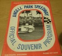1980 Angell Park Speedway Midget Racing Souvenir Race Program Sun Prairie, Wis