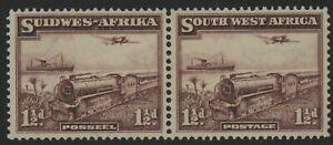 SOUTH WEST AFRICA, MINT, #134, OG NH, PAIR, SOUND & CENTERED, BEAUTIFUL