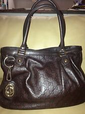 GUCCI 'Sukey' Guccissima Leather Handbag – Brown.  Great Condition