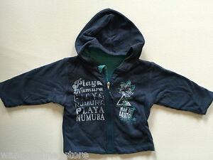 BNWT Timberland Baby Reversible Blue Zip Top Jumper 6 Months Sweater Cotton Hood
