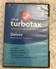 NEW INTUIT TURBOTAX TAX DELUXE 2018 FEDERAL STATE RETURNS & E-FILE WINDOWS MAC