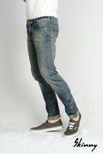 Monkee Genes Skinny Blue Distressed Jeans 30W-30L