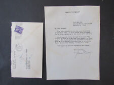 Rare 1945 James Stewart Signed Letter to General Usher U.S. Army Moffet Field