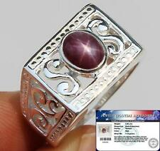 2.50 cts Natural STAR RUBY Ring 100% Solid 925 Sterling Silver S9.5 ChunKY BIG