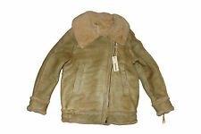 DIESEL L-NOELLE SHEARLING LEATHER JACKET SIZE S 100% AUTHENTIC