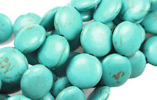 Genuine Turquoise Magnesite Gemstone Coin Beads 11MM LIMITED