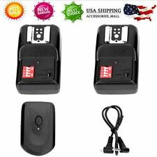 16 Channel Wireless Remote Flash Speedlite Trigger 1 Transmitter 2 Receiver