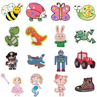 Iron On / Sew On Motif Applique - Kids Childrens Mixed Designs - Trimits