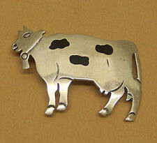 "1/4"" L x 1 & 1/4"" W - Vg Mexico 925 - Ladies Cow Pin - 2 &"