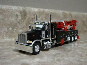 DCP 1/64 Black Peterbilt 389 Sleeper Century 1150 Rotator Wrecker Semi Truck Toy