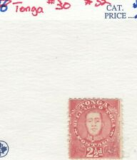 Tonga Scott #30 Mnh Og Appears some glazing of gum, Nicely centered for issue!