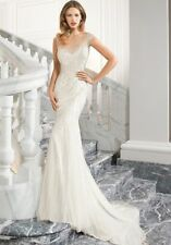 Demetrios Ivory sample gown size 6 beaded