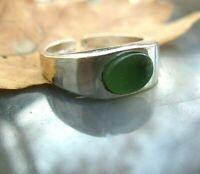 alter ring mit aventurin silber 835  4,3 g größenverstellbar elegant