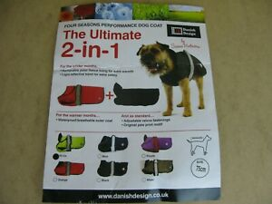 Danish Designs Ultimate All Seasons 2 in 1 Dog Coat Waterproof Windproof Hi Viz
