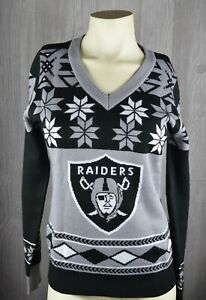 NFL Team Apparel Oakland Raiders Women's Sweater S New With Tags
