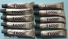 10 x tubes of E-6000 Jewellery  Adhesive 5.32ml / .18Fl.OZ