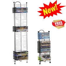 DVD Tower Storage Rack Shelf Stand Organizer Multimedia 52 or 32 Holder BluRay