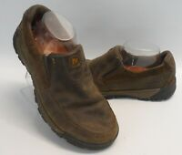 Mens Merrell Canteen Slip On Brown Leather Shoes Outdoors Size 8.5 US 42 EU