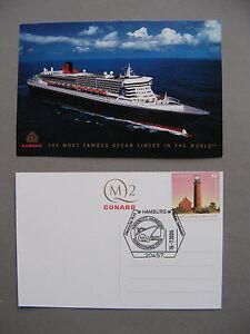 GERMANY BRD, PPC (card Cunard Line) CTO Hamburg 2006, stamps lighthouse