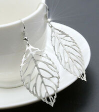 HORSE & WESTERN LADIES  JEWELLERY JEWELRY FILIGREE LEAF EARRINGS SILVER