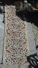 Colourful Vintage Carpet Hall Stair Runner 3.8 Metres Long