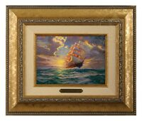 Thomas Kinkade Courageous Voyage Framed Brushwork (Gold Frame)