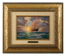 Thomas Kinkade Courageous Voyage - Brushwork (Gold Frame)