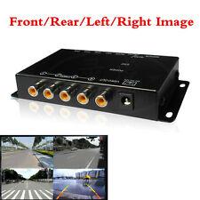 4 Way Car Video Switch Parking Camera 4 View Image Split Screen IR Control Box