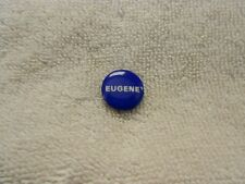Small Vintage Eugene McCarthy Political Campaign Button Pin Blue & White Enamel