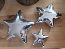 Alu Sterne 14530 Set Weihnachten Esszimmer Advent Silber Stern Flur Tischdeko