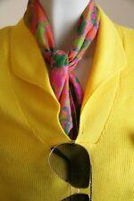 True Vintage MODA TRICOT  OVP neuwertiger Pullover 70er gelb 70s NOS yellow 80er