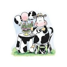 PENNY BLACK RUBBER STAMPS COW GRASS CAKE PARTY NEW wood STAMP