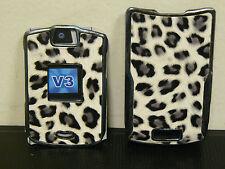 (LOT OF 40) Motorola V3 V3c V3m Razr Cover Hard Faceplates WHITE LEOPARD