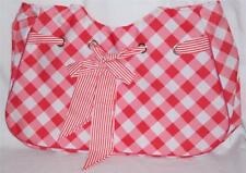 "Beach Pool or Travel bag TOTE red/white Gingham design checker 21 x 14 1/2"" x 7"""