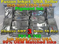 Any 3 tank fits canon ipf 8000 9000 8100 9100 8000s 9000s pfi 701 702 not oem h