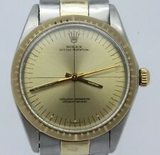 VINTAGE c.1969 Rolex Zephyr 1038 Mens Automatic Watch Crosshair Dial Chronometer